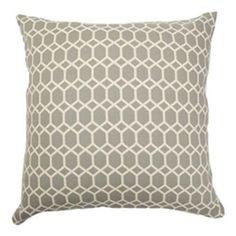 Packard Diamonds Pillow Flint The Pillow Collection Accent Pillows Throw Pillows Bedding :: $40