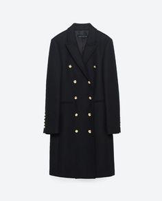 Image 11 of LONG CROSSOVER COAT from Zara