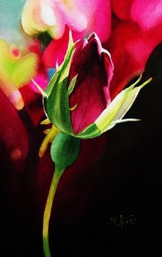 Baby Bud, painting by artist Jacqueline Gnott