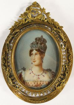 Antique Miniature Portrait on Ivory Marie-Louise Empress of the French Signed | eBay