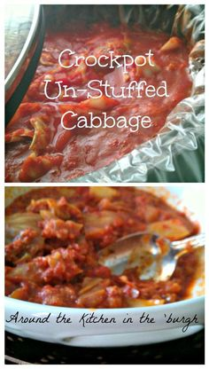 This is like deconstructed Sarmale. Makes me miss those Romanian meals::: Crockpot Unstuffed Cabbage