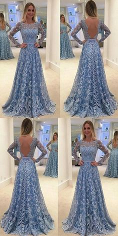 2017 elegant prom dresses,a-line prom dresses,lace prom dresses Prom Dresses For Teens, Prom Dresses Long With Sleeves, Backless Prom Dresses, A Line Prom Dresses, Prom Dresses Online, Sexy Dresses, Formal Dresses, Long Sleeve Backless Dress, Sleeveless Dresses