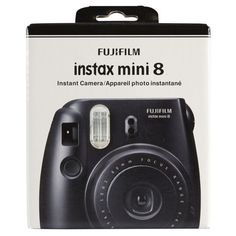 Fujifilm Instax Mini 8 Camera, Black for capturing fun photos of your summer adventures