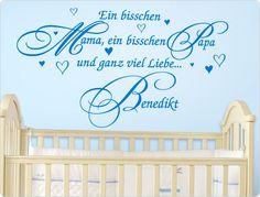 Cute Wandtattoo Ein bisschen Mama Papa und ganz viel Liebe