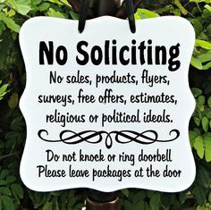 No Soliciting Sign, Welcome Sign, Family, Friends, Front Door Sign, Home  Decor, Custom Wood Sign | Wood plaques, Custom wood signs and White vinyl