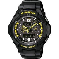 G-Shock Radio Controlled Solar Powered Black Chronograph Watch GW-3500B-1AER
