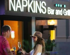 One of our favorite restuarants in downtown Napa is Napkins Bar + Grill. Ask us for your complimentary appetizer card!