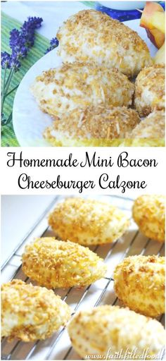 Homemade Mini Bacon Cheeseburger Calzone Recipe! Oh so delicious! Can be made ahead and frozen for later too!