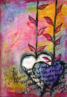 Art Journal Page (hearts) by candy