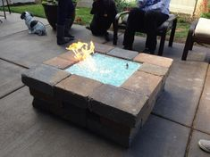 """custom propane fire pit   The 18' X 18"""" aluminum propane fire pit is $275.00 plus glass and ..."""