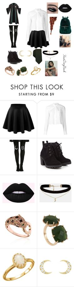 """""""ASlytherinGirl'sDayBack"""" by mexicanbambino143 ❤ liked on Polyvore featuring Helmut Lang, Red Herring, Nancy Gonzalez, ASOS, Effy Jewelry, Les Néréides, Ileana Makri and Bar III"""
