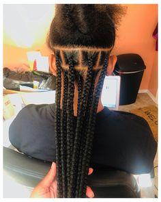 Braided Hairstyles For Black Women Cornrows, Box Braids Hairstyles For Black Women, Braids For Black Women, African Braids Hairstyles, Braids For Black Hair, Braided Ponytail, Braid Hairstyles, Large Box Braids, Medium Box Braids