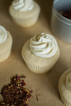 White Chocolate Chai Spice Cupcakes & Browned Butter Frosting