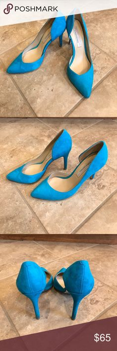 Blue Suede Shoes Perfect pop of color to your outfit! Worn once but have a few spots. Please check photos closely. Chinese Laundry Shoes Heels