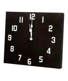 Look at this #zulilyfind! Black Panel Clock by Twelve Timbers #zulilyfinds