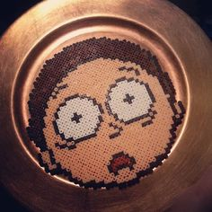 Morty (Rick and Morty) perler beads