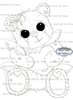 INSTANT DOWNLOAD Digital Digi Stamps Big Eye Big Head Dolls Bestie New Bestie Bears  img530 My Besties By Sherri Baldy