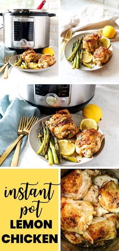 This easy Instant Pot Lemon Chicken recipe is bursting with fresh flavors and can be made in 30 minutes! The perfect weeknight meal to make in your pressure cooker. The sauce is amazing! Chicken And Beef Recipe, Chicken Recipes, Best Pressure Cooker Recipes, Lemon Garlic Chicken, Low Sodium Chicken Broth, Weeknight Meals, Healthy Dinner Recipes, Beef Recipes, Instant Pot