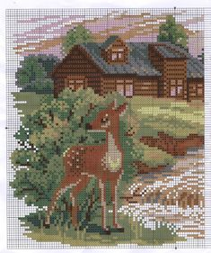 A Winner~counted cross stitch pattern #217~Animals Horses Nature Graph Chart
