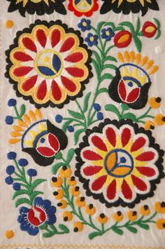 Czech national folk costume embroidery Hungarian Embroidery, Folk Embroidery, Learn Embroidery, Modern Embroidery, Butterfly Embroidery, Chain Stitch Embroidery, Embroidery Stitches, Embroidery Patterns, Stitch Head