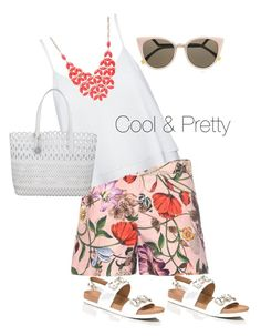 """""""Beautiful summer shorts"""" by julies-styling on Polyvore featuring Gucci, Alice + Olivia, DKNY, Kate Spade, Alexa Starr and Fendi"""
