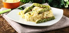 Spring Onion Risotto with Saffron & Asparagus   culture: the word on cheese