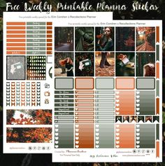 Circle Labels, Round Labels, Printable Planner Stickers, Free Printables, Free Planner, Mini Heart, Fall Photos, Erin Condren, Green And Orange