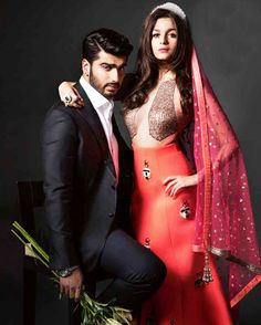 #ArjunKapoor #AliaBhatt on the cover of #BazaarBrideIn