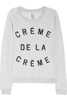 Zoe Karssen, Crème de la Crème cotton-blend terry sweatshirt