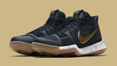 75c18297e95 Nike Kyrie 3 Black Sail-Metallic Gold-Cool Grey Release Date 852395-
