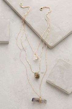 Anthropologie Stacked Stone #Necklace #anthrofave #anthropologie