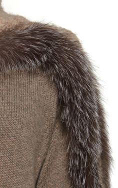 This **Agnona** sweater features a turtleneck, full length bubble sleeves, and fur trimming at the bodice and sleeves. Индивидуальный пошив в интернет-ателье Namaha3D www.livemaster.ru/namaha Разрабатываем выкройки, вышивку, лекала для швейных производств, технологические карты, отшиваем образцы и партии одежды