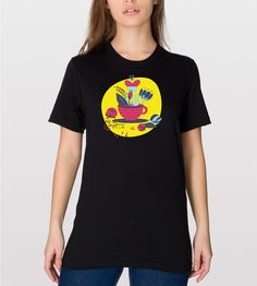 Flowers in a Tea Cup T Shirt  Pretty Flowers  Tea by CottonHues