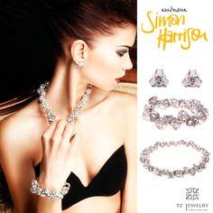 Ice Flow Crystal Pyramid Necklace, Bracelet and Earrings! #SimonHarrison #Swarovski #crystals #exclusive #jewelry #TZjewelry #unique #bracelet #necklace #earrings