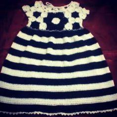Gaun bunga Handmade-crochet/rajutan tangan, benang rayon viscose grade A yang lembut dan adem, made by order