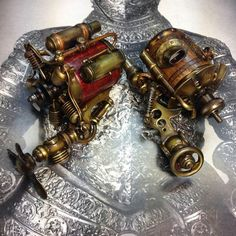 Steampunk rotary tattoo machines