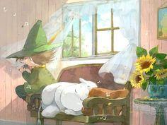 Moomin, Moomintroll, Snufkin by KleinerSkollexxx Fairy Land, Fairy Tales, Moomin Wallpaper, Les Moomins, Moomin Valley, Tove Jansson, Cartoon Shows, Fauna, Cute Illustration
