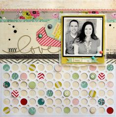 my love scrapbook layout | Nicole Nowosad for Silhouette