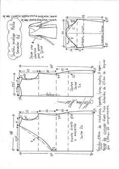 Vestido envelope para malha - Best Sewing Tips T Shirt Sewing Pattern, Easy Sewing Patterns, Pattern Drafting, Pants Pattern, Formal Dress Patterns, Blouse Patterns, Clothing Patterns, Skirt Patterns, Sewing Hacks