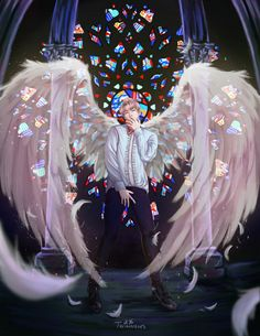 'I could never fly' Now you can eomma | BTS - Jin fanart