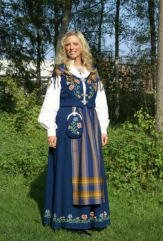 Folk Costume, Costumes, Festival Wear, Traditional Dresses, Norway, Blue Dresses, Culture, Folklore, How To Wear
