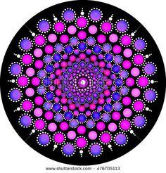 Mandala Stone Dots Stock Illustration 476705101 - Shutterstock