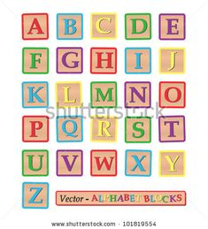 Image Various Colorful Blocks Alphabet Isolated Stock Vector (Royalty Free) 96611911 Professional Cover Letter Template, Simple Cover Letter Template, Block Letter Alphabet, Alphabet Templates, Toy Story Theme, A4 Poster, Posters, Baby Blocks, White Stock Image
