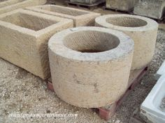Round stone trough from Provence