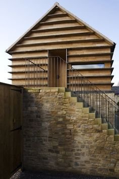 Watergate phase 1 refurbishment of an existing stone barn by James Gorst Architects Oxfordshire 2012