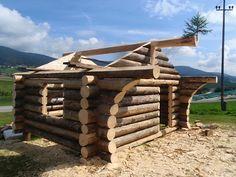 Naturstammhaus Blockhütte