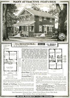 HOUSE: The Sears Roanoke, as shown in the 1920 Sears Modern Homes catalog. Similar to our house now