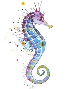 Purple NaturalBy Sam Nagel Art Print: Seahorse Purple Natural by Sam Nagel : Print: Seahorse Purple Natural by Sam Nagel : Seahorse Drawing, Seahorse Painting, Seahorse Tattoo, Seahorse Art, Seahorses, Jellyfish Art, Purple Canvas, Purple Art, Nature Prints