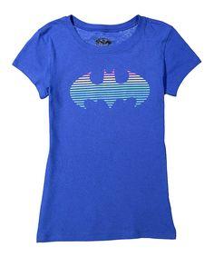 Batgirl Royal Rainbow Shield Tee - Girls