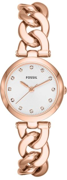 Olive Three-Hand Stainless Steel Watch - Rose #ES3392